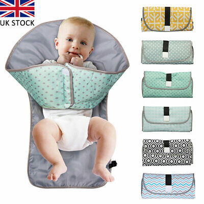 Waterproof 3-in-1 Organizer Bag Pad Baby Diaper Changing Mat Travel Home Pouch