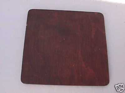 """3 1/2"""" (rounded corners) Deardorff lens board ,drilled to Copal #1 finished"""