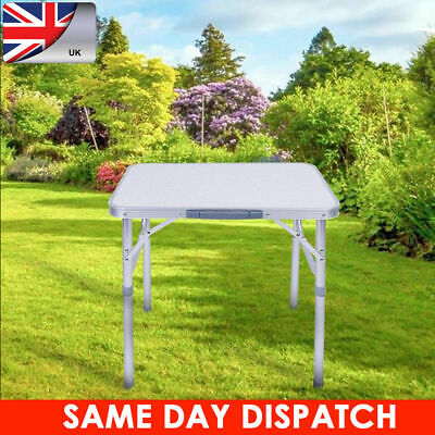 Folding Portable Aluminum Table with Hight Adjustment Camping Picnic Party UK