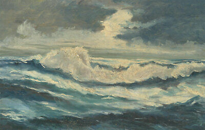 Laurence H.F. Irving (1897-1988) - Mid 20th Century Oil, Stormy Seascape