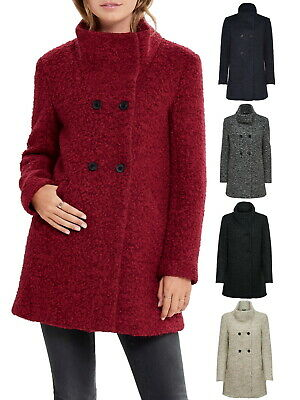 huge selection of 66aff 83603 ONLY DAMEN MANTEL Jacke Woll-Mantel onlSophia Boucle Wolle ...