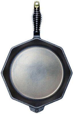 FINEX 12 in. Cast Iron Skillet Multi-Pour Design with 100% Organic Flax Seed Oil