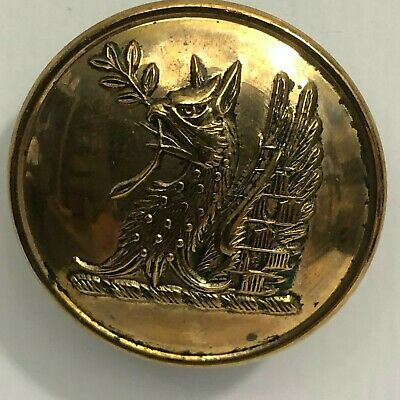 Gilt Livery Button griffin Holding A Twig 25 mm 19th century by C&J Weldon