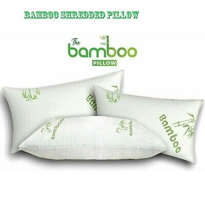 Anti Bacterial Shredded Bamboo Memory Foam Pillow Orthopedic Firm Support 1/2/4x