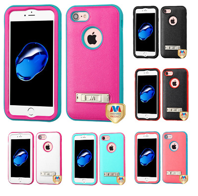 For iPhone 7 / 8 Natural VERGE Hybrid Phone Protector Cover with Stand