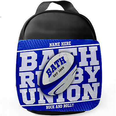 Personalised BATH Rugby Lunch Bag Insulated Boys Children School Box RPS21