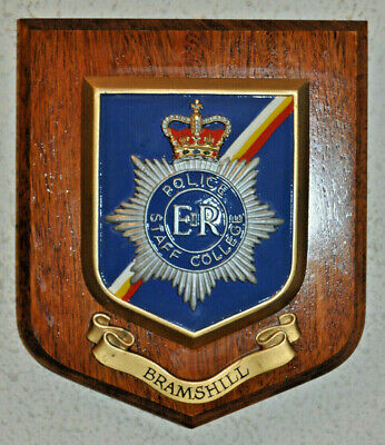 Police Staff College Bramshill mess wall plaque shield crest Constabulary