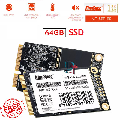 64GB SSD Kingspec mSATA Internal Solid State Drive mSATA Hard Drive