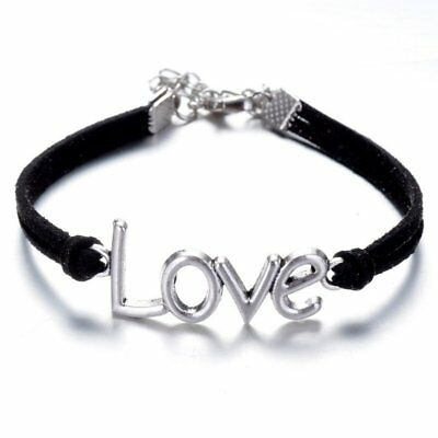 Fashion Leather Bracelet Charms LOVE Eternal Jewelry Friendship Bangle Gift Hot