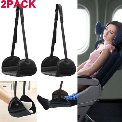 Lot2 Comfy Hanger Travel Airplane Footrest Hammock Foot w/ Memory Foam Premium