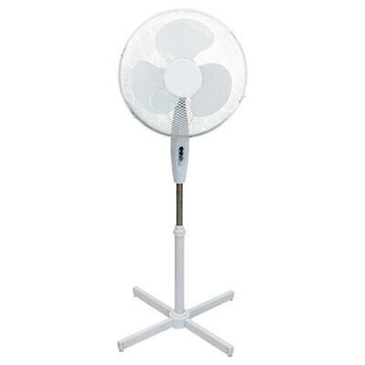 "16"" Oscillating Extendable Free Standing Tower 3 Speed Pedestal Cooling Fan"