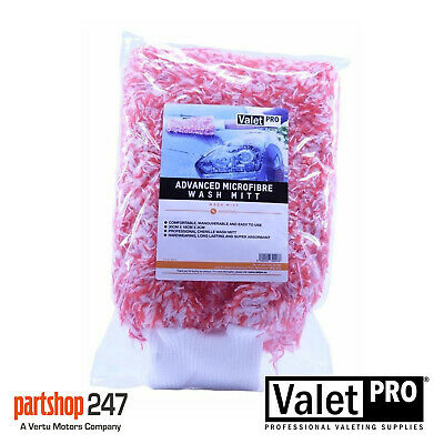 Professional red shampoo /& wash mitt valeting Detailing Supersoft microfibre.