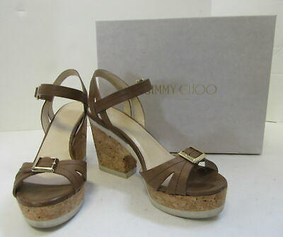 92b61e3869 JIMMY CHOO SANDAL Limited Edition Nude Suede Size 36.5 Crisscross ...