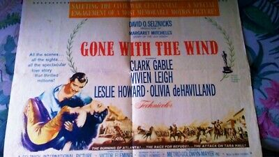 """Gone With The Wind R-61 Half Sheet Movie Poster Style """"B"""" Metro Goldwyn Mayer"""