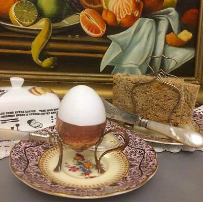 Antique  Art Nouveau  JUGENDSTIL Arts & Crafts WMF Copper & Brass Egg Cup  c1910