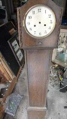 "Antique Old ""Vintage"" Oak Cased Grandmother Clock.54"" High."