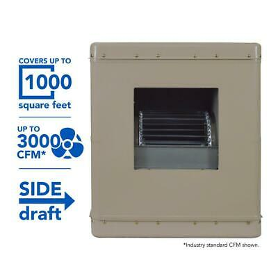 EVAPORATIVE COOLER SIDE Draft Wall Roof Quiet 8 In  Media 2300 Sq Ft