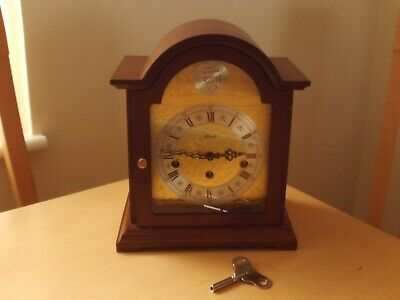 Vintage Tempus Fugit Hermle Mantel Clock Made in Germany in good working order.