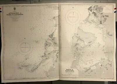 Columbia North Coast Navigational Chart / Hydrographic Map # 2434, South America