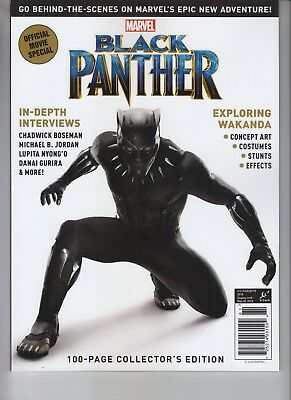Marvel Official Movie Black Panther Magazine 2018 Titan Chadwick Boseman