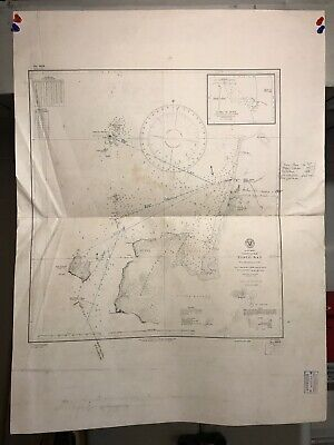 Peru Coast Navigational Chart / Hydrographic Map # 979, South America, Pisco Bay