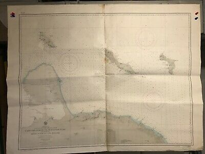Caribbean Sea Navigational Chart / Hydrographic Map # 6570 South America Islands