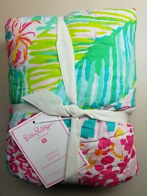 462692ccca35c0 Pottery Barn Teen Lilly Pulitzer Orchid Floral Organic Quilted Sham Std  #2798