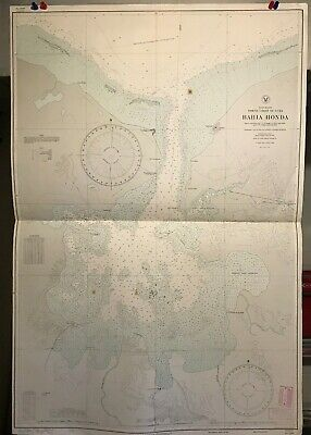 Cuba North Coast Navigational Chart / Hydrographic Map # 2209, Bahia Honda