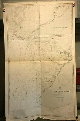 Cuba South Coast Navigational Chart / Hydrographic Map #2143 West Indies Niquero