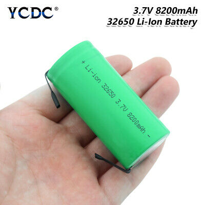 32650 Battery 3.7V 8200mAh High Capacity Rechargeable Li-ion Cell With Tabs 326