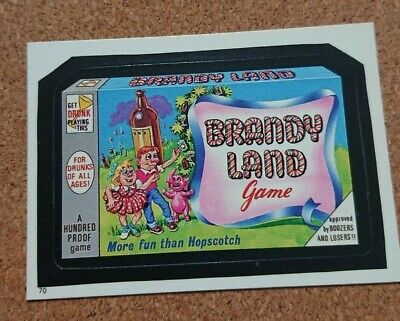 Wacky Packages - Album Sticker #70 - Brandy Land Game (Topps - 1986)