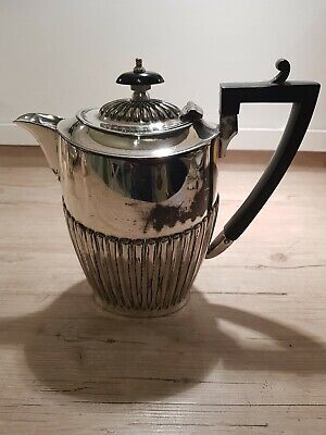 Antique Silver Plated Coffee Pot /Hot Water Jug - John Turton & Sons Sheffield