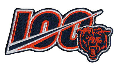 "🏈NEW! 5"" 2019 CHICAGO BEARS 100th Anniversary Iron-on NFL Football Jersey PATCH"