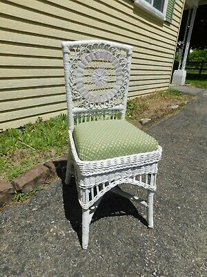 Wonderful 1920s Antique Wicker Chair - Reupholstered, Ready to Go!