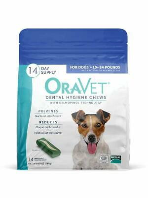 Oravet Dental Hygiene Chews For Small Dogs 10-24Lbs 14Count