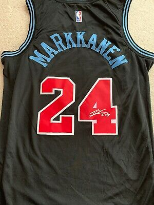 buy popular b6903 66f69 LAURI MARKKANEN SIGNED Bulls Jersey (JSA COA) Chicago Power ...