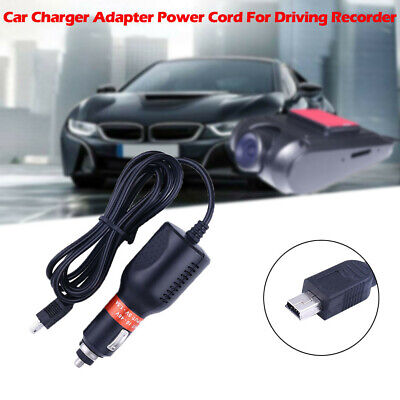USB Dash Cam DC Car Charger Adapter Power Cord For Driving Recorder GPS Speedy