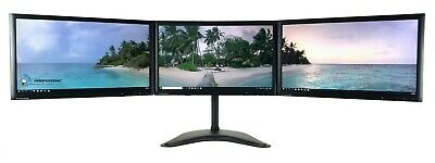 """TRIPLE SCREEN TFT SET WITH STAND FOR PC HOME OFFICE 3 x 22"""" FULL HD 1920x1080  A"""