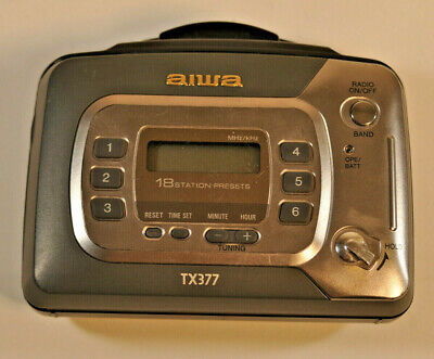 Aiwa TX377 Portable Cassette Player AM/FM Radio Buy It Now!!  Free Shipping!!