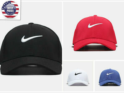 f2f084b9 New Adjustable Fit Nike Golf Baseball Cap Swoosh Front Fit Poly For men  women