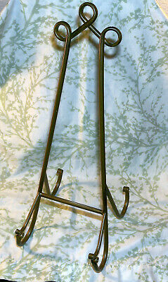 """Tall Bronze Tone Metal 15""""  Display Easel Stand for Book, Picture, Cookbook, Art"""