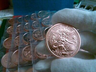 -3 oz Total-Texas Commemorative-REMEMBER THE ALAMO-1 oz.999 Copper -3 PACK-