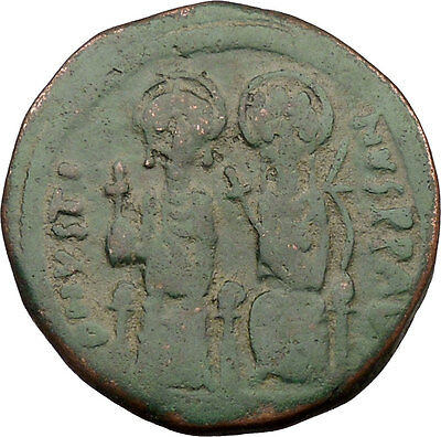 Justin II & Queen Sophia 565AD Large Ancient Medieval Byzantine Coin  i36932
