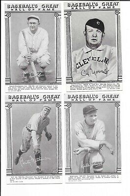 1974 BASEBALL HALL OF FAME EXHIBIT CARDS complete set 24 CARDS
