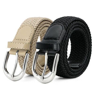 JASGOOD Men Elastic Braided Canvas Stretch Belt for Causal Jeans Pants Outdoor
