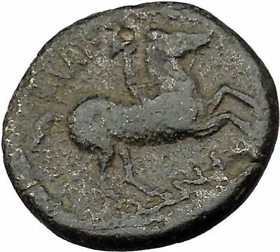 Philip II Alexander the Great Dad OLYMPIC GAMES Ancient Greek Coin Horse i37127