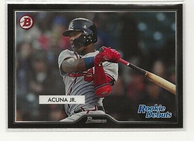 Ronald Acuna Jr. 2019 Topps Inspired by 55 Bowman Rookie Debut Braves PR=217