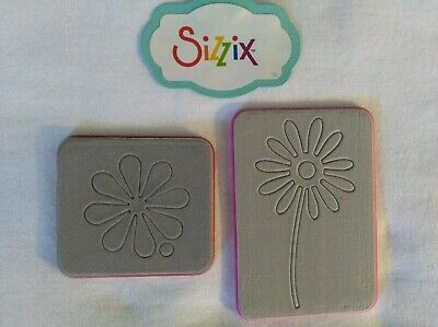 """Sizzix Dies """"Peace Flower & Daisy # 2"""" USED Cuttlebug Compatible"""