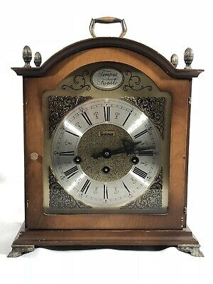 Vintage Bulova Tempus Fugit Mantle Clock - Germany with key