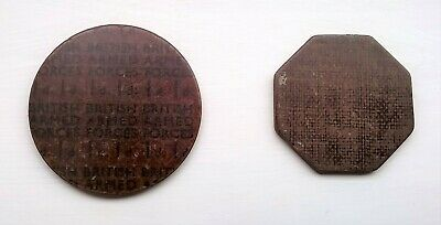 2 British Armed Forces Laminate Tokens